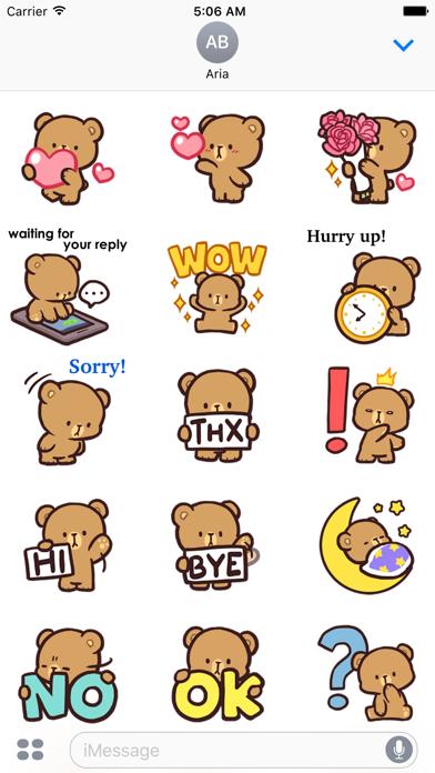 Cool Bear Mocha Daily Emoji screenshot 2