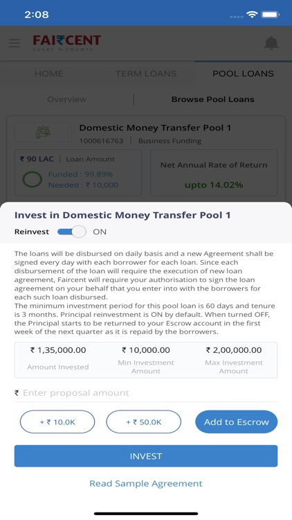 Faircent - P2P Investment screenshot-5