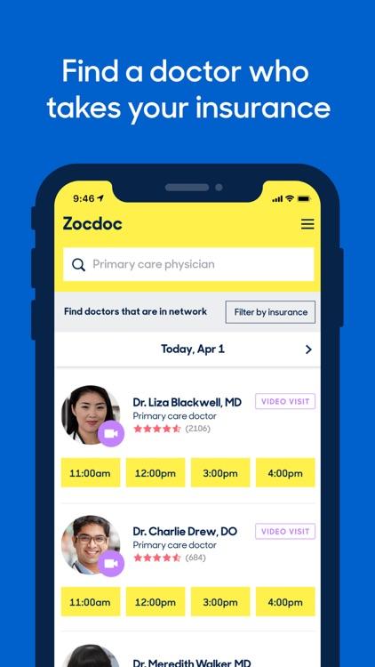 Zocdoc On Demand Doctor Visits screenshot-0
