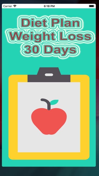 Diet Plan-Weight Loss 30 Days