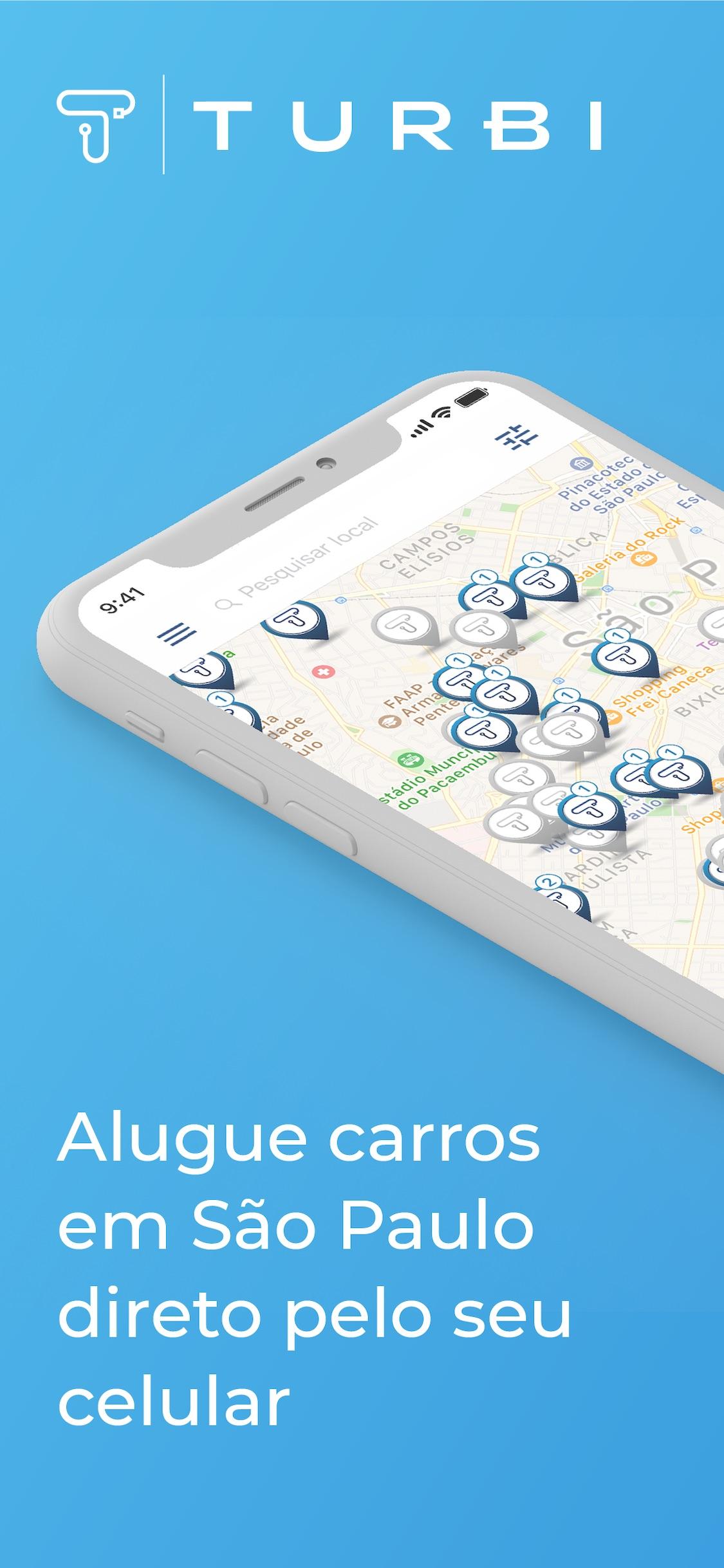 Screenshot do app Turbi - Aluguel de Carros