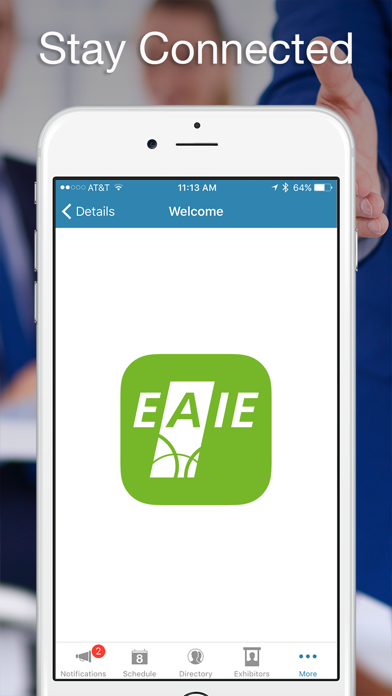 EAIE Events screenshot one