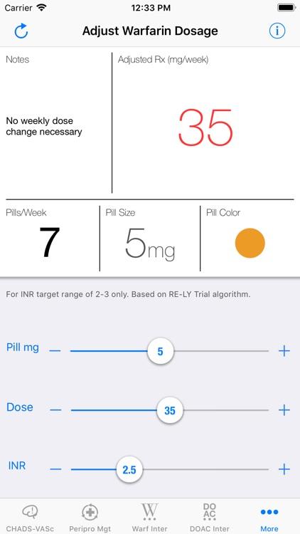 MAQI2 Anticoagulation Toolkit screenshot-5