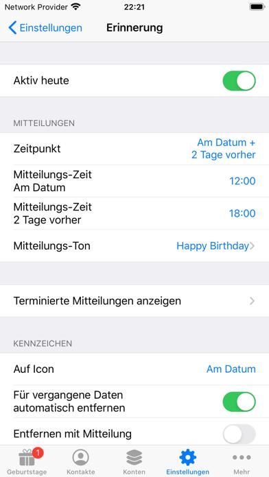 BirthdaysPro XScreenshot von 5