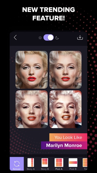 Screenshot of Gradient Photo Editor App