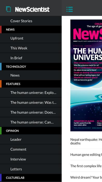 New Scientist Screenshot