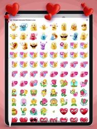 Emojis Animated Stickers Love ipad images