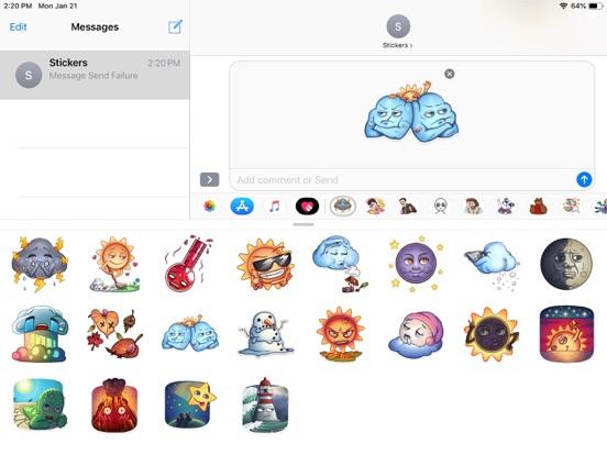 Weather Emoji Funny Stickers screenshot 4