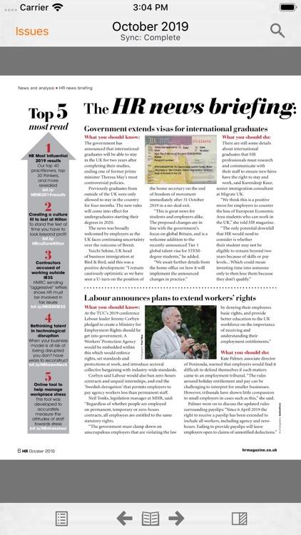 HR Magazine digital edition screenshot-3