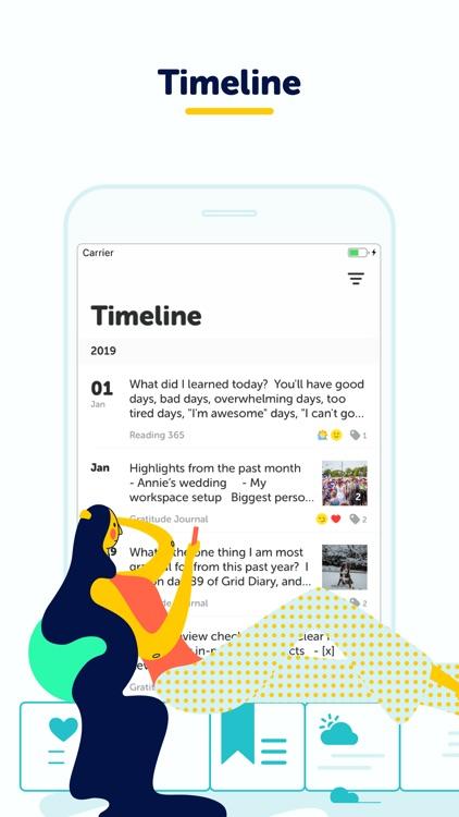 Grid Diary - Journal, Planner screenshot-5