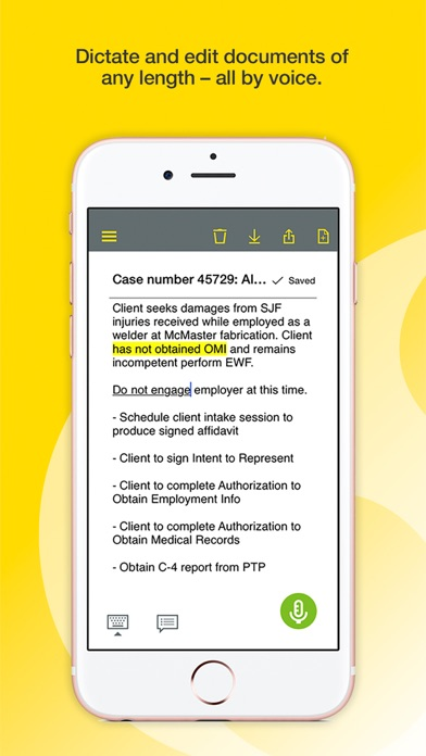 Dragon Anywhere: Dictate Now Screenshot