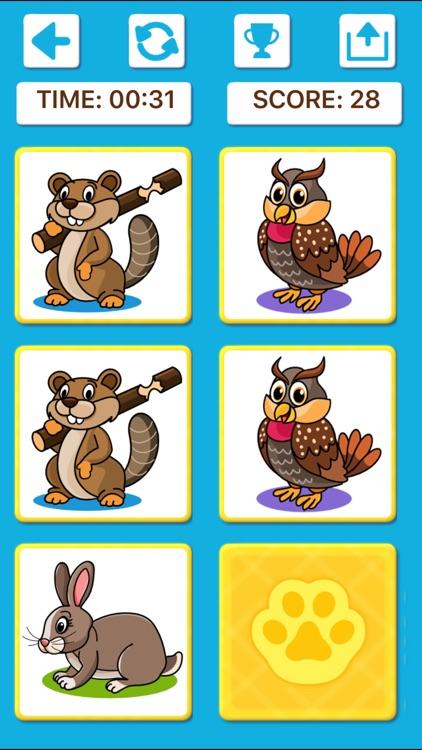 Animal Memory Matching Games screenshot-5