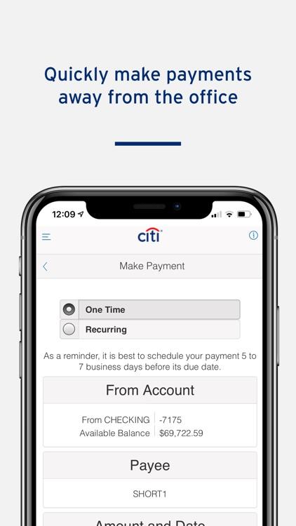 CitiBusiness Mobile screenshot-3