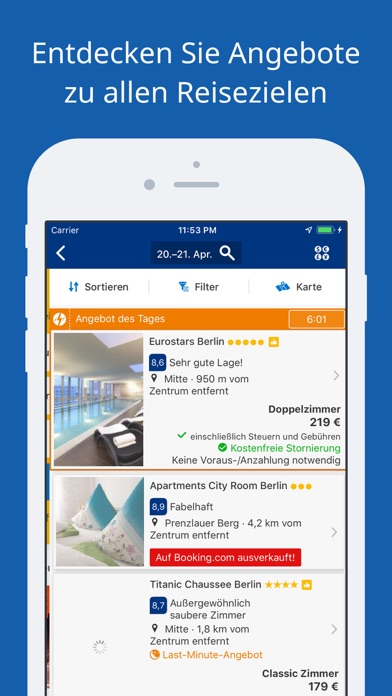 Screenshot for Booking.com-Reisedeals in Germany App Store