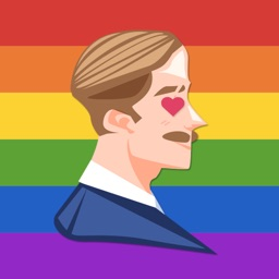 Gay Guy in Love Stickers