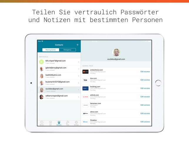 Dashlane Passwort-Manager Screenshot