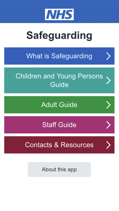 NHS Safeguarding Guide screenshot one