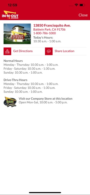 In-N-Out Locator on the App Store