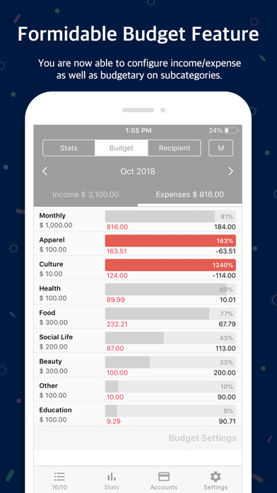 Screenshot for Money Manager (+PC Editing) in Estonia App Store