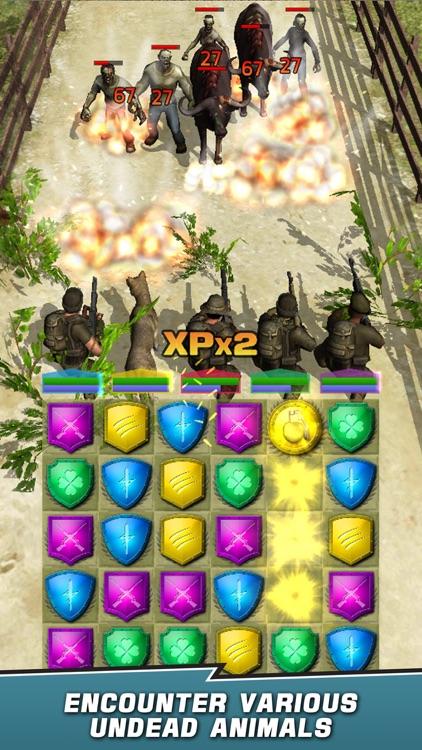 VDV Match 3 RPG: Zombies! screenshot-5