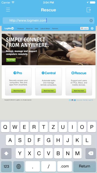 Rescue + Mobile Screenshot