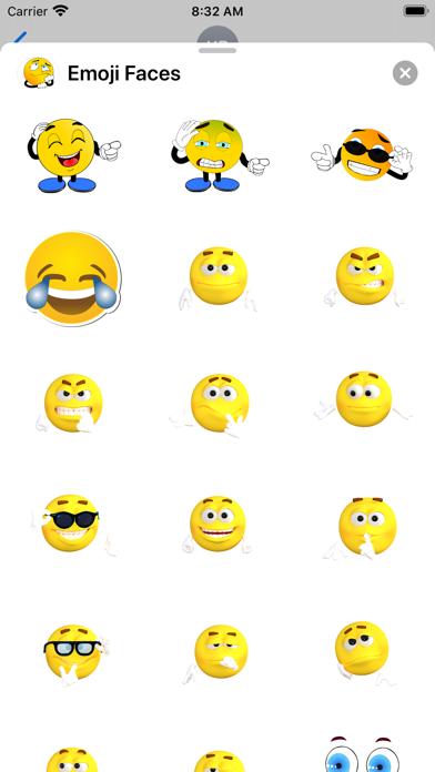 Emoji Faces Sticker Pack screenshot 3