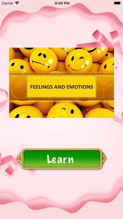 Feelings & Emotions Vocabulary