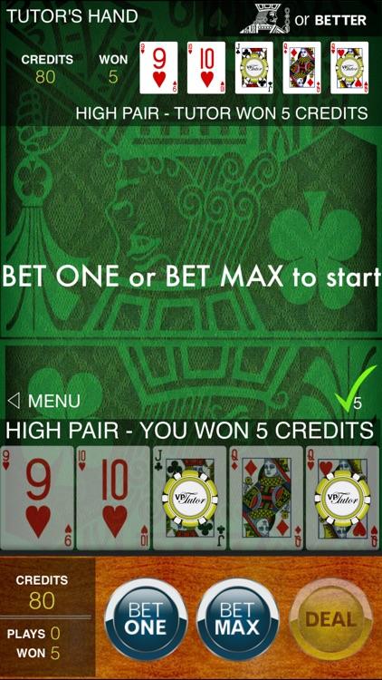 Video Poker Tutor