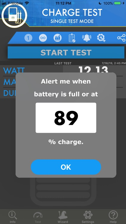 Amperes - battery charge info
