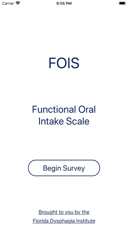 Functional Oral Intake Scale