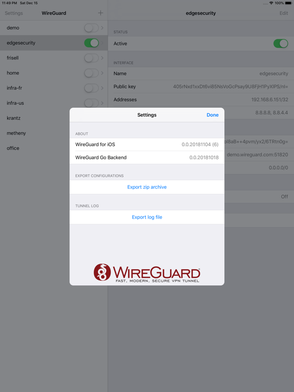 WireGuard by WireGuard Development Team (iOS, United States