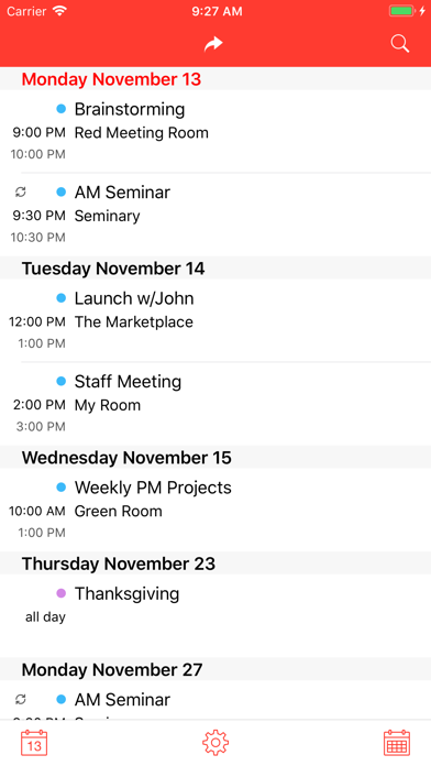 Forward Calendar Meetings Screenshots