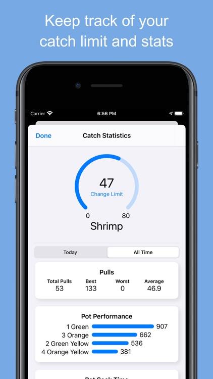 Crab and Shrimp Pot Tracker