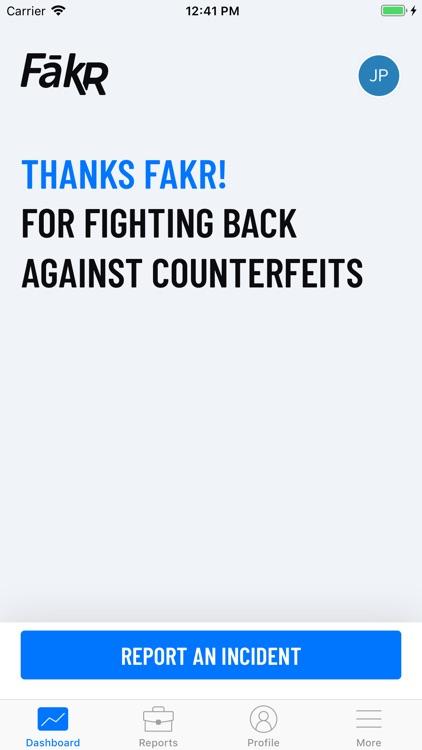 FakR Counterfeit Report screenshot-3