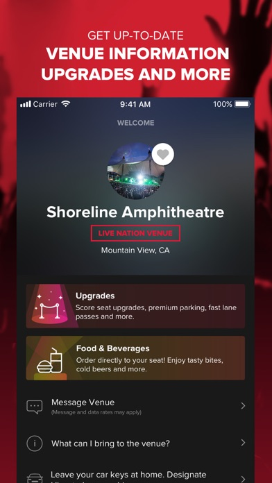 Live Nation For Concert Fans review screenshots