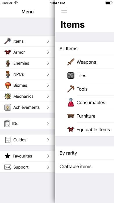 Pocket Wiki Plus for Terraria Screenshots