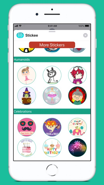 Stickee Stickers for iMessage screenshot-6