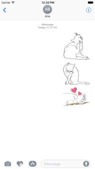 Lovely Pose of Cat Sticker iphone images