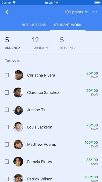 Google Classroom screenshot-3
