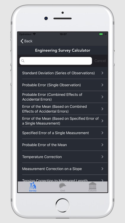 Engineering Survey Calculator