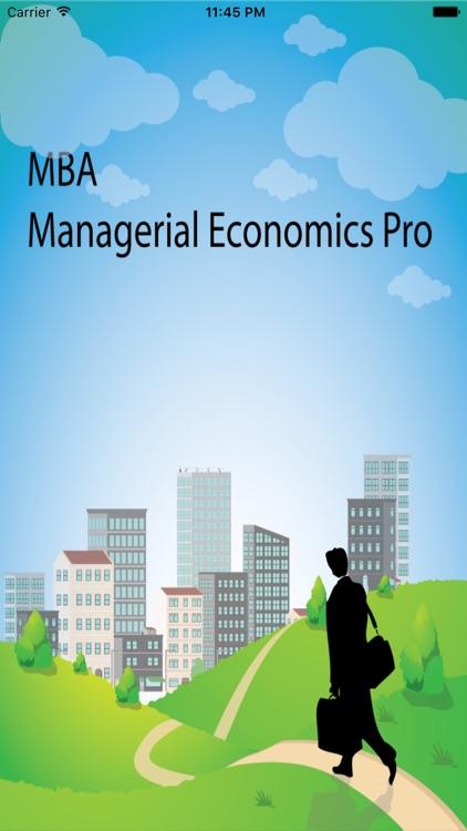 MBA Managerial Economic