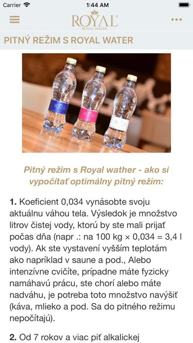 Royal Water SK screenshot 5