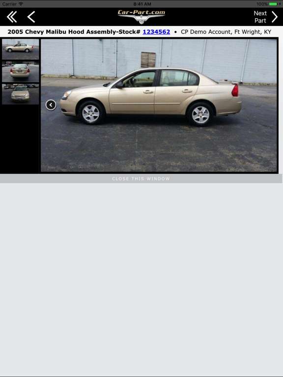 Car-Part.com Used Auto Parts Market screenshot
