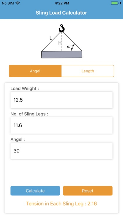 Sling Load Calculator 2019 by Deekshita Solanki
