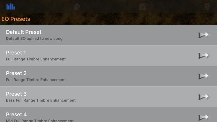 HD Music Parametric Equalizer screenshot-9
