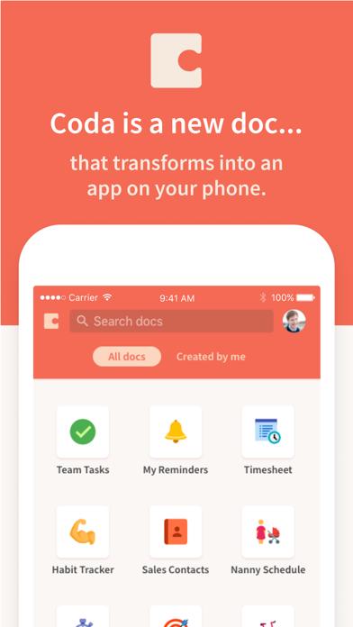 Coda Screenshot on iOS