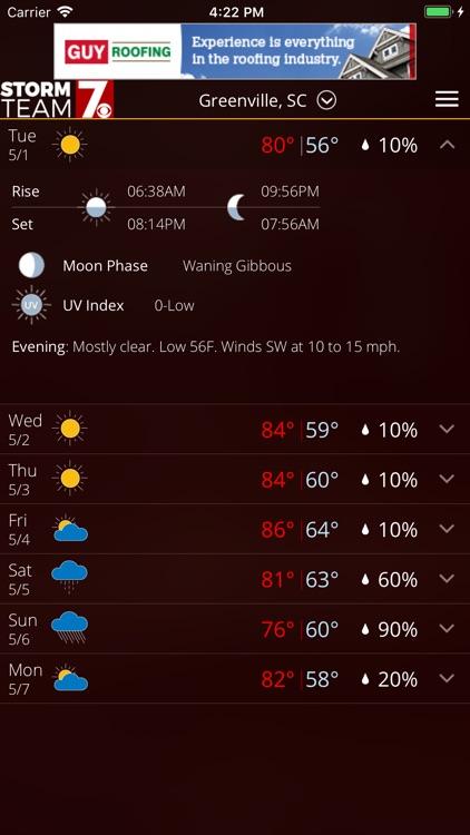 WSPA Weather screenshot-4