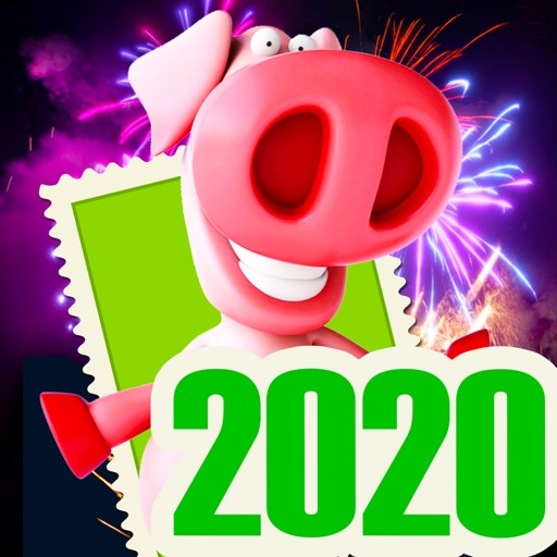 Silvester Frohes Neujahr 2020 icon