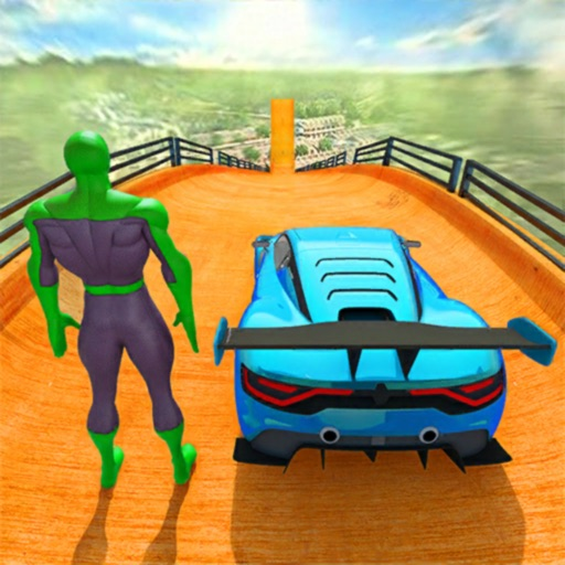 Superhero GT Racing Car Stunts