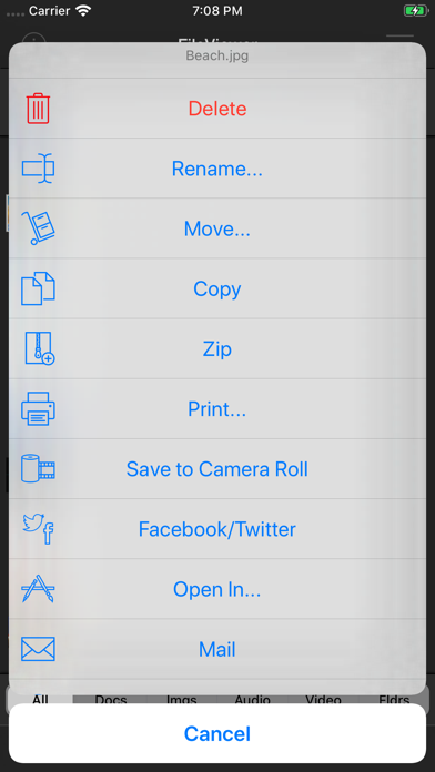 FileViewer USB for iPhone Screenshots